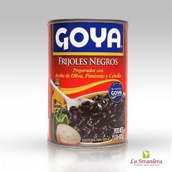 Frijoles Negros con Aceite de Oliva, Pimiento y Cebolla Goya 425G.