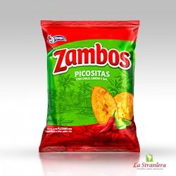 Snacks Zambos Picositas, con Chile, Limone e Sale 140G.