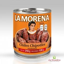 Peperoncini Chipotles, Chiles Chipotles Adobados, La Morena 210G.