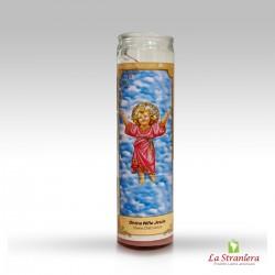 Candela di Vetro per Esoterismo ''Divino Niño Jesús'' Vela, Velone (Solo a Torino(TO))