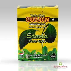Erba Mate con dolcificante, Yerba Mate Colon con Hojas de Stevia